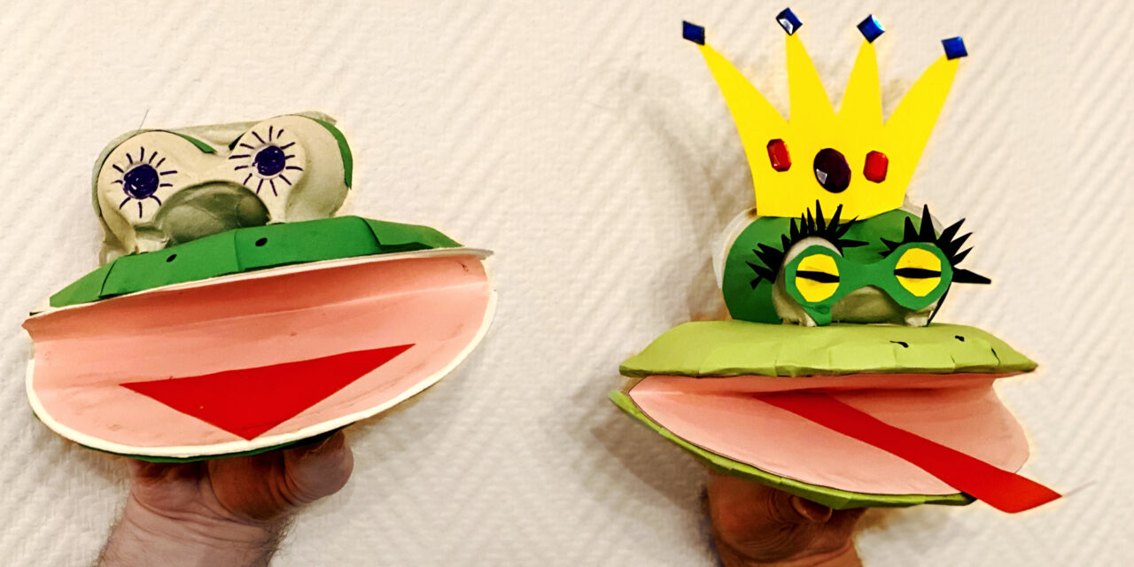 The cool paper plate frog